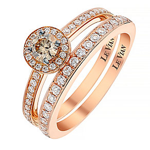 Le Vian 14ct Strawberry Gold diamond bridal set - Product number 2953692