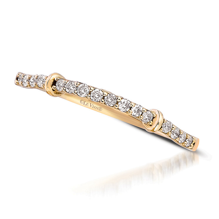 Le Vian 14ct Honey Gold Vanilla Diamond band - Product number 2953951