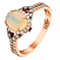 Le Vian 14ct Strawberry Gold diamond & opal ring - Product number 2954540