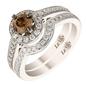 Le Vian 14ct Vanilla Gold 95pt diamond bridal set - Product number 2954672