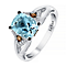 Le Vian 14ct Vanilla Gold diamond & aquamarine ring - Product number 2956314