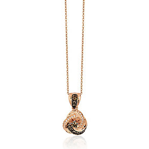 Le Vian 14ct Strawberry Gold diamond pendant - Product number 2957043
