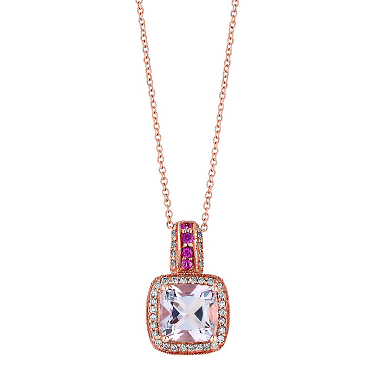 Le Vian 14ct Strawberry Gold diamond amethyst pendant - Product number 2957094