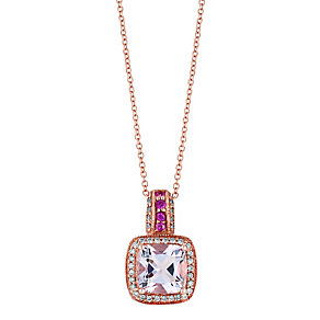 Le Vian® 14ct Strawberry Gold™ 18pt diamond amethyst pendant - Product number 2957094