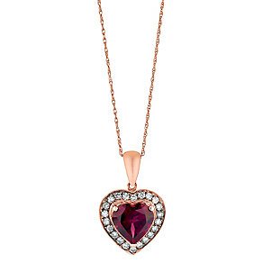 Le Vian 14ct Strawberry Gold diamond rhodolite pendant - Product number 2957256