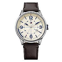 Tommy Hilfiger Men's Stainless Steel & Brown Leather Watch - Product number 2958740