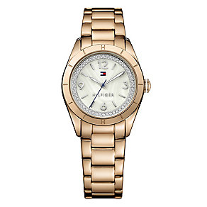 Tommy Hilfiger Ladies' Mother of Pearl Rose Gold Tone Watch - Product number 2958872