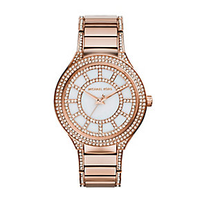 Michael Kors ladies' rose gold-plated bracelet watch - Product number 2958880