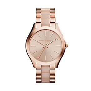 Michael Kors Runway ladies' rose gold-plated bracelet watch - Product number 2958937