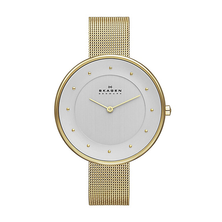 Skagen Gitte Ladies' Gold Tone Bracelet Watch - Product number 2958953