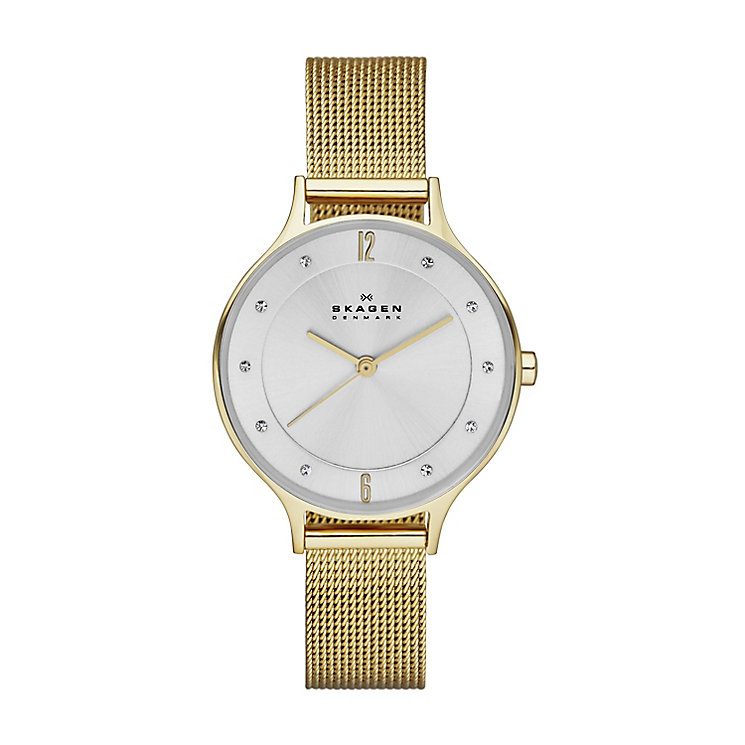 Skagen Anita Ladies' Gold Tone Bracelet Watch - Product number 2958988