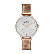 Skagen Anita Ladies' Rose Gold Tone Bracelet Watch - Product number 2958996