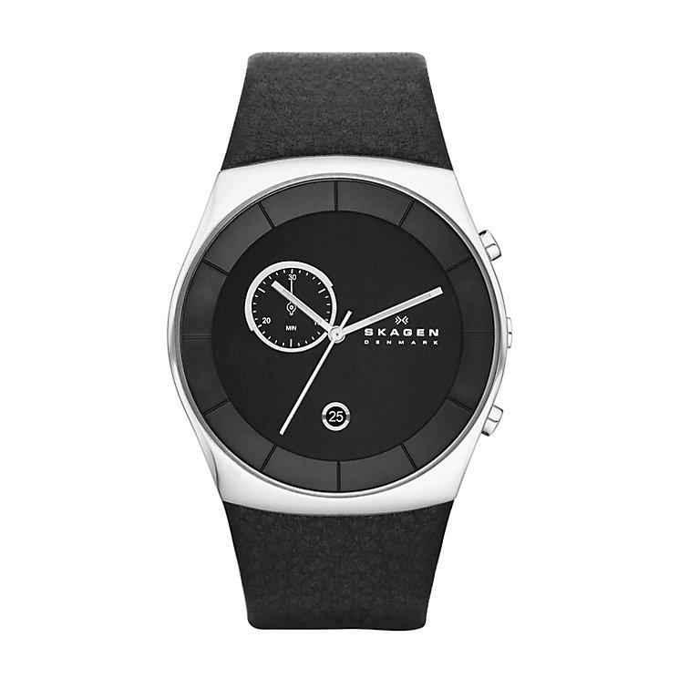 Skagen Havene Men's Stainless Steel Black Strap Watch - Product number 2959046