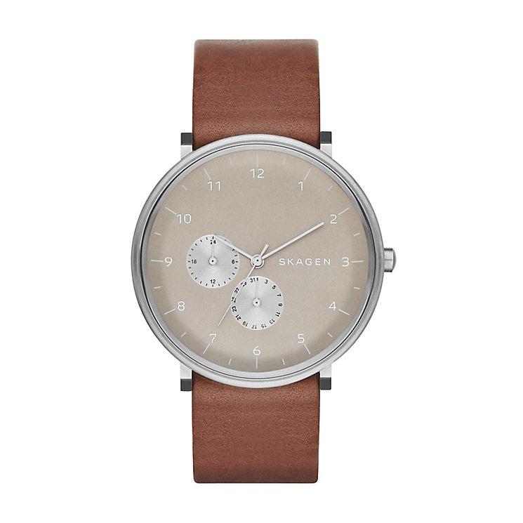 Skagen Hald Men's Brown Leather Strap Watch - Product number 2959135