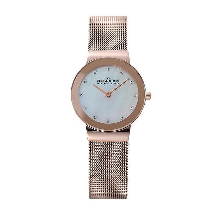 Skagen Freja Ladies' Rose Gold Tone Bracelet Watch - Product number 2959143