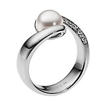 Skagen Stainless Steel Stone Set Pearl Ring M.5 - Product number 2959275