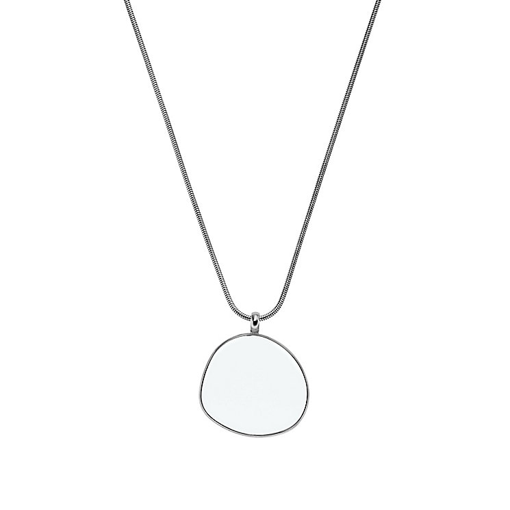 Skagen Sea Glass Stainless Steel Circle Necklace - Product number 2959593