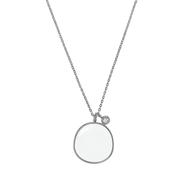 Skagen Sea Glass Stainless Steel Charm Necklace - Product number 2959607