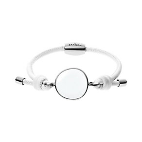 Skagen Sea Glass stainless steel leather bracelet - Product number 2959674