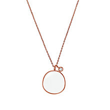 Skagen Sea Glass Rose Gold Tone Charm Necklace - Product number 2959682