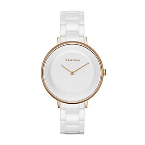Skagen Ditte ladies' white ceramic bracelet watch - Product number 2961563