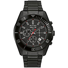 Bulova men's ion plated chronograph bracelet watch - Product number 2961709