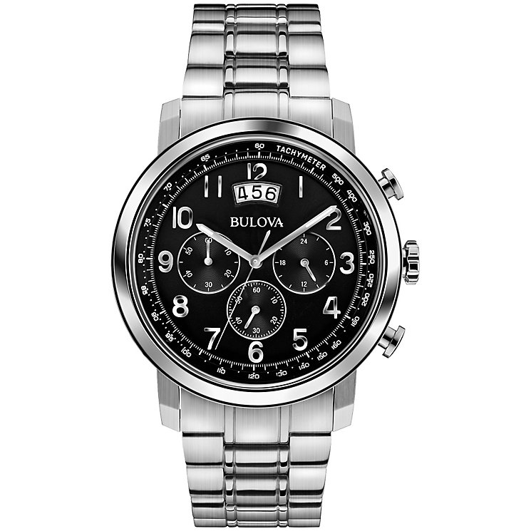Bulova men's stainless steel chronograph bracelet watch - Product number 2961717