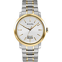 Bulova men's two colour bracelet watch - Product number 2961725