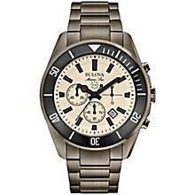 Bulova men's ion-plated chronograph bracelet watch - Product number 2961733