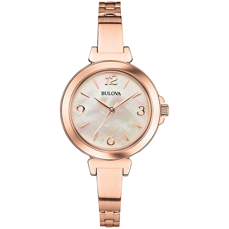 Bulova ladies' rose gold-plated bracelet watch - Product number 2961792