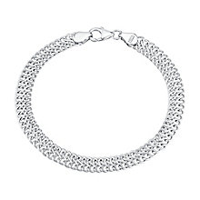 Sterling Silver Double Link Chain Bracelet - Product number 2962969