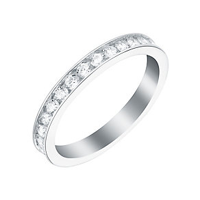 9ct White Gold & Cubic Zirconia Full Eternity Ring - Product number 2963655