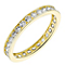9ct Yellow Gold & Cubic Zirconia Full Eternity Ring - Product number 2966115