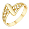 9ct Yellow Gold Diagonal Twist Filigree Swirl Ring - Product number 2966255