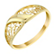 9ct Yellow Gold Filigree Swirl Ring - Product number 2966425