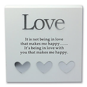 Said With Sentiment Love Wall Plaque - Product number 2967189