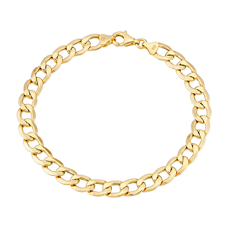 "9ct Yellow Gold 8"" Curb Chain Bracelet - Product number 2967235"