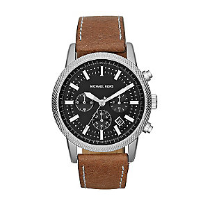 Michael Kors men's stainless steel black strap watch - Product number 2967340