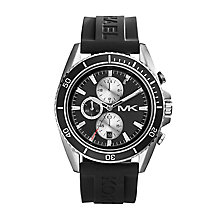 Michael Kors men's stainless steel rubber strap watch - Product number 2967405