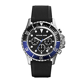 Michael Kors Everest men's stainless steel black strap watch - Product number 2967413