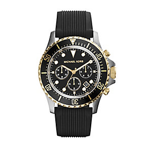 Michael Kors Everest men's stainless steel black strap watch - Product number 2967421