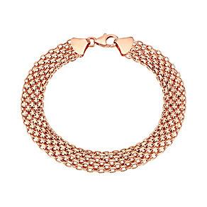 """9ct Rose Gold 7.5"""" Mesh Bracelet - Product number 2968207"""