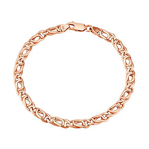 "9ct Rose Gold 7.5"" Figaro Chain Bracelet - Product number 2968215"