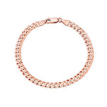 "9ct Rose Gold 7.25"" 120 Guage Solid Curb Bracelet - Product number 2968304"