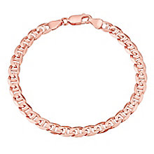 "9ct Rose Gold 7.25"" Anchor Bracelet - Product number 2968320"