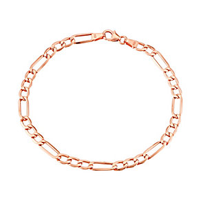 "9ct Rose Gold 7.25"" Figaro Bracelet - Product number 2968339"
