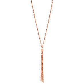 "9ct Rose Gold 18"" Tassel Chain - Product number 2968436"