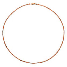 "9ct Rose Gold 17.75"" Small Spiga Chain - Product number 2968444"