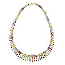 "9ct Three Colour Gold 17"" Cleo Collar - Product number 2968541"
