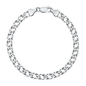 Sterling Silver Diamond Cut Curb Bracelet - Product number 2969041